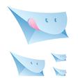 smiling envelopes vector image