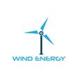 Wind turbine design template vector image