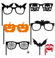 Halloween booth props vector image