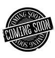 Coming Soon rubber stamp vector image