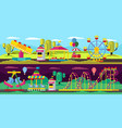 amusement park horizontal banners vector image