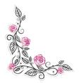 Roses vintage border vector image