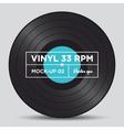 vinyl 33 rpm mockup 02 vector image vector image