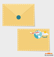 Envelope Business working elements for web design vector image