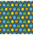 Seamless wallpaper pattern with seasons icons vector image vector image