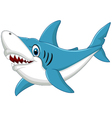 Shark cartoonisolated on white background vector image vector image