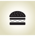 Burger icon with long shadow vector image