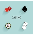 Abstract Casino Objects vector image