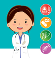 Beautiful medical doctor vector image