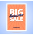 Big Summer Sale poster vector image