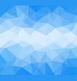 blue polygonal low poly background vector image