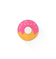 color confection donut icon vector image