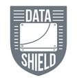 data shield logo simple style vector image