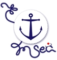 Nautical design anchor vector image