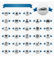 Web And Map Icons With Ribbons vector image