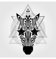 Zebra head Tribal pattern vector image