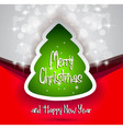 Elegant Classic Christmas flyer with a tree vector image vector image