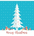 Christmas tree and present boxes vector image