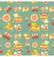 Seamless Background Ice Cream vector image vector image