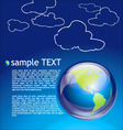 planet earth background vector image vector image