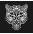 Zentangle stylized White Tiger face Hand Drawn vector image