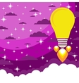 Lampa- rocket flies upwards vector image