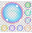 Multicolored transparent soap bubbles vector image