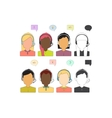 Call Center Operator Icons vector image