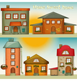 Cartoon Houses Set vector image