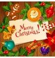 Christmas Day and New Year greeting card design vector image