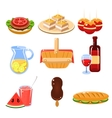 French Food Icons Set vector image