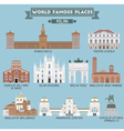 Milan famous places vector image