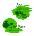 eco life and green environment icons vector image vector image