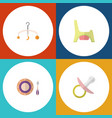 flat baby set of toilet nipple mobile and other vector image