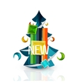 New sale tag badge for Christmas vector image