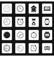 Clocks icons set vector image