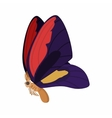 Purple-red butterfly icon cartoon style vector image vector image