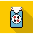 Deck of playing cards icon flat style vector image