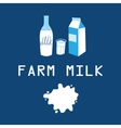 card with milk products vector image