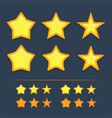 collection star icons vector image