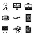 customer-centricity icons set simple style vector image