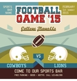 Football game college playoffs vector image