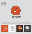 logo with red fox vector image