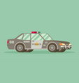 police car with the sheriffs star on the door vector image
