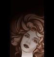 Retro style woman portrait vector image