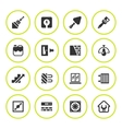 Set round icons of repair and building vector image