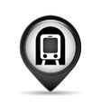 symbol metro train pin map icon vector image