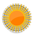 glass sun symbol yellow color isolated vector image vector image