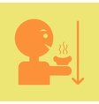 man drinking hot bring down a fever vector image