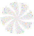 airplane fireworks swirl rotation vector image
